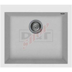 Elleci QUADRA 105 G68 Biancogránit egymedencés mosogatótál