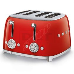 SMEG TSF03RDEU kenyérpirító 4 szeletes piros